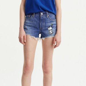 Levisxpeanuts shorts